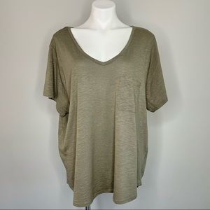 Philosophy NEW Olive Green Cotton Blend T-Shirt 3X